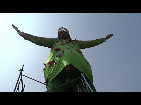 Cochin Carnival  Santa Biggest Santa (പാപ്പാനി ) Parade Ground 2020 Almost finish. #kochi @fortkochi