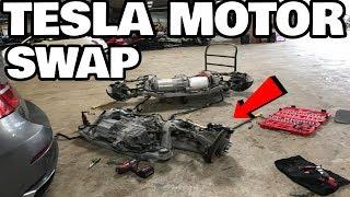 restoring-a-flood-salvage-tesla-model-x-part-7-tesla-motor-swap