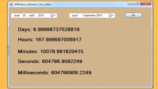 C# Tutorial - Difference Between Two Dates In C# [ with source code ]