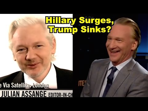 Hillary Surges, Trump Sinks? - Bill Maher, Julian Assange & MORE! LV Sunday Clip Roundup 172