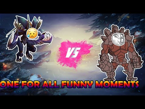 ONE FOR ALL MALPHITE VS KHAZIX | BEST CHAMP TO PLAY ONE FOR ALL (TROLLS AND FUNNY MOMENTS)