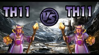 TH11 vs TH11-CLASH OF CLANS