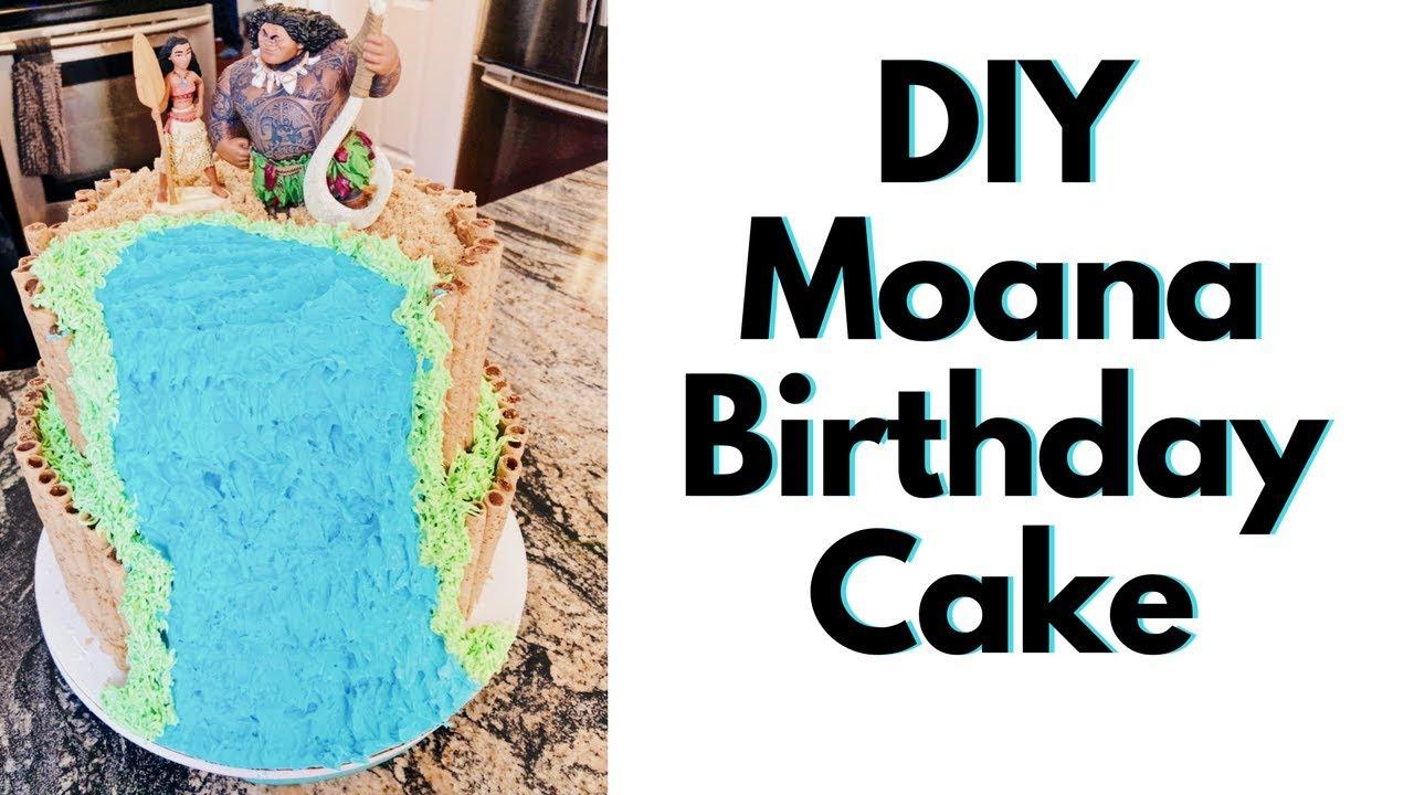 Do It Yourself Moana Birthday Cake Diy Disney Cake Entirely