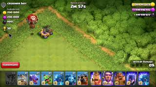 1 Max X-bow Vs All air Troops. COC Private Server.