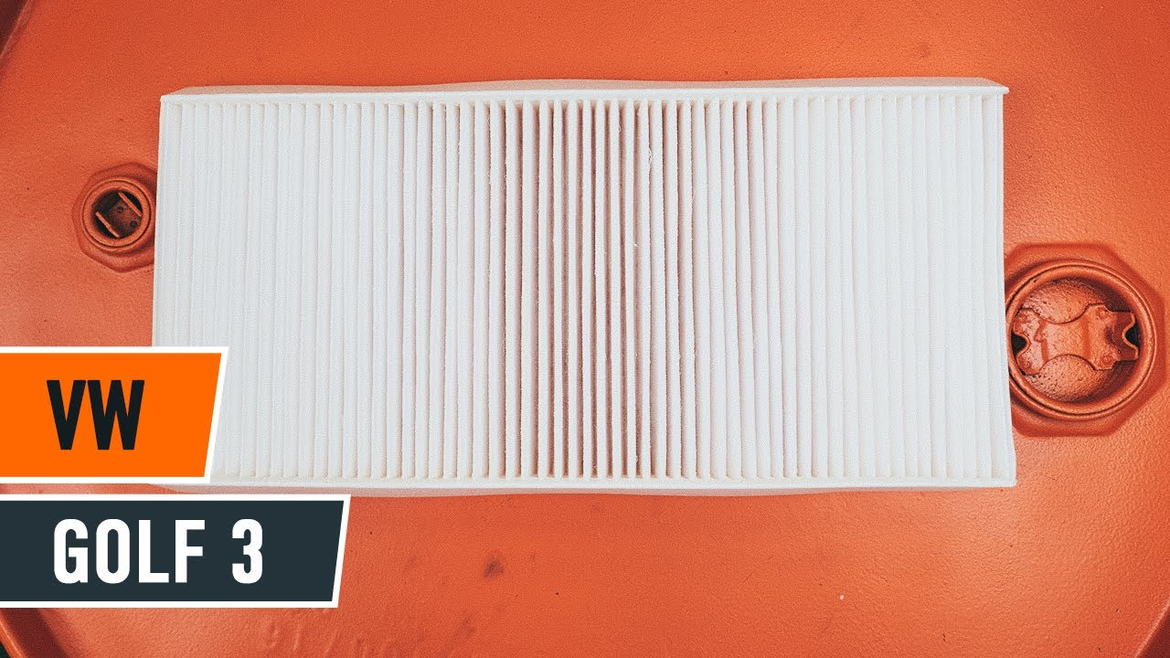 How to replace Pollen Filter on VW GOLF 3 TUTORIAL | AUTODOC
