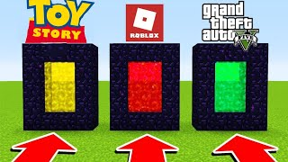 DON'T CHOOSE THE PORTAIL MAUVAIS ON MINECRAFT! (Toy story, Roblox, Gta V)
