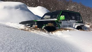 Nissan Patrol & Mitsubishi Pajero Snow Fun
