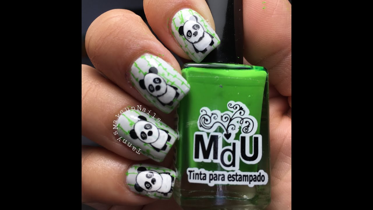 Oso Panda Nails - YouTube
