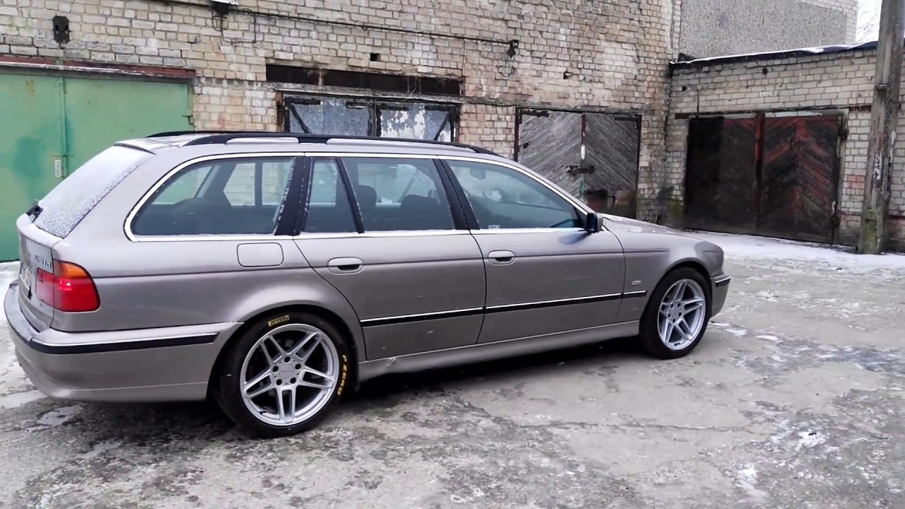 bmw e39 touring aspin silver on ac schnitzer type3 r18. Black Bedroom Furniture Sets. Home Design Ideas
