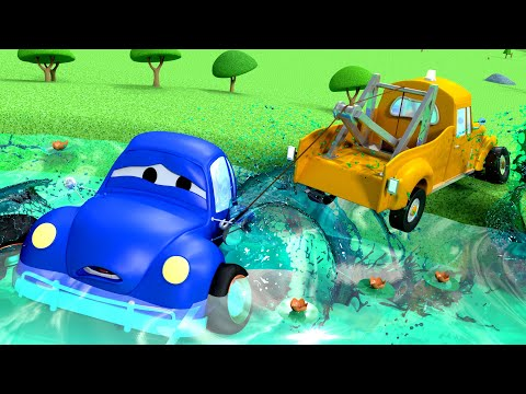 Thumbnail: The Big Fish - Tom The Tow Truck in Car City | Cars 3 d cartoons for kids