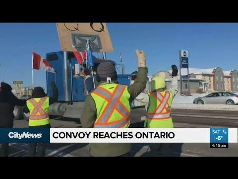 Convoy reaches Ontario
