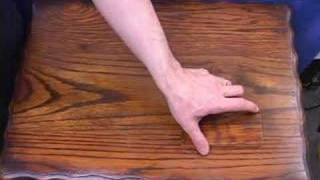 Finish restoration for antique wood furniture.  video - DVD