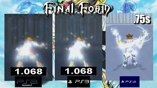 Drive Form Load Time Comparisons PS2 VS PS3 VS PS4 - Kingdom Hearts 2 Final Mix HD