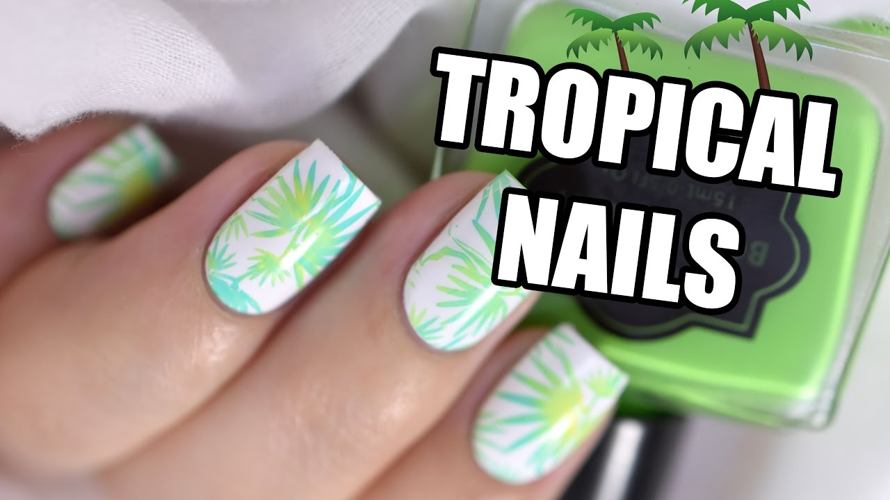 How To: Easy Tropical Nail Art 🌴 || Marine Loves Polish - YouTube