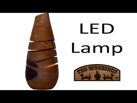Woodturning How To Make a LED Accent Lamp | Carl Jacobson