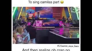 En GMA los fans gritaando la parte de Camila❤  de WFH durante ensayos