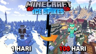 100 Hari di Minecraft Hardcore Tapi Ice Spikes Only ! Menyelesaikan Tugas Dari Dewa !!!