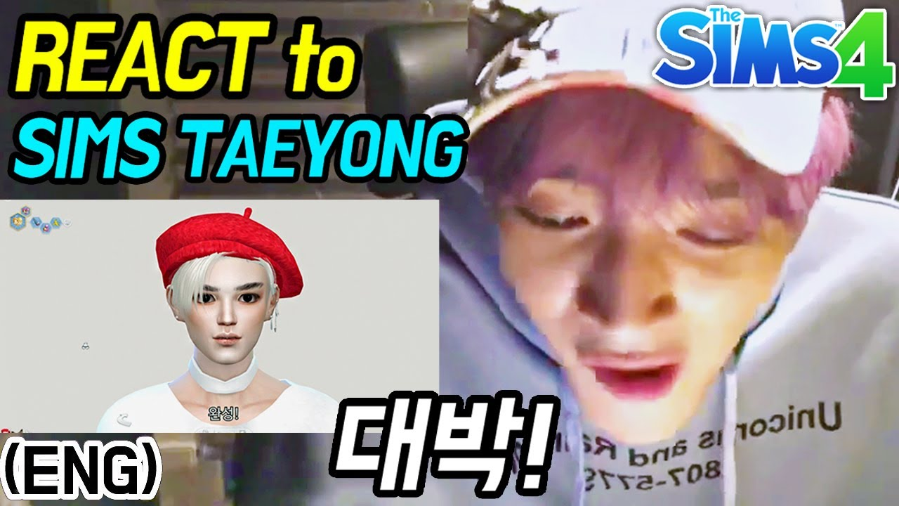 NCT Taeyong Watches 'Sims Taeyong' on VLive | Shownu the Sims | Sims 4