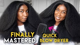 I'M OBSESSED!! My QUICK BLOW OUT Routine Using Revlon Salon One Step Hair Dryer Brush