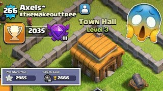 Th3 In Crystal League Post Update in The Record Clash of Clans Unbelievable Thing..