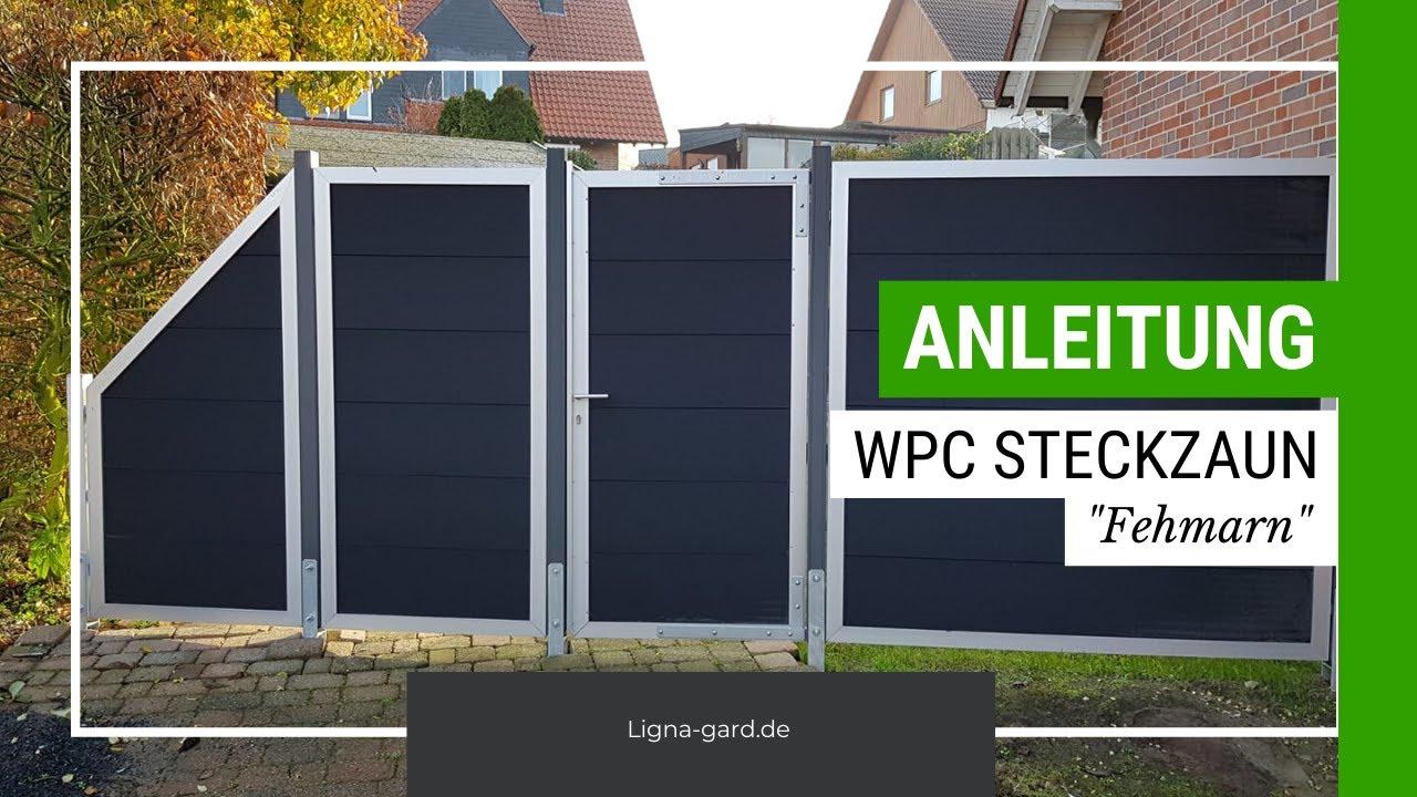 Wpc Zaun Aufbauen Fehmarn Zum Einbetonieren Ligna Gard Youtube