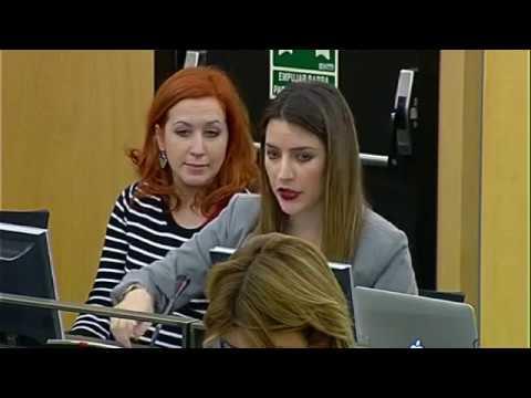 Ana Terrón en la Comisión de Fomento el 15 de Marzo