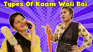 Types Of Kaam Vali Bai | Types Of Maids | Funny Video | 4 Heads