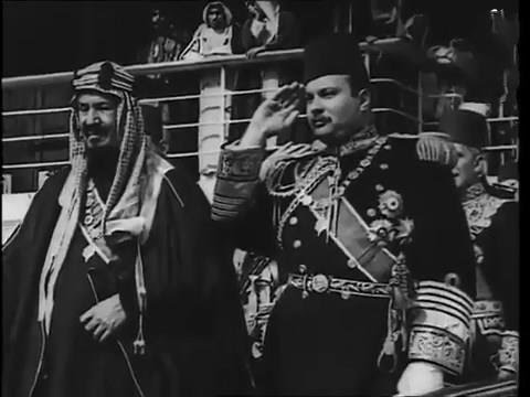 أول زيارة تاريخية للملك عبد العزيز ال سعود  لمصر فى عهد الملك فاروق