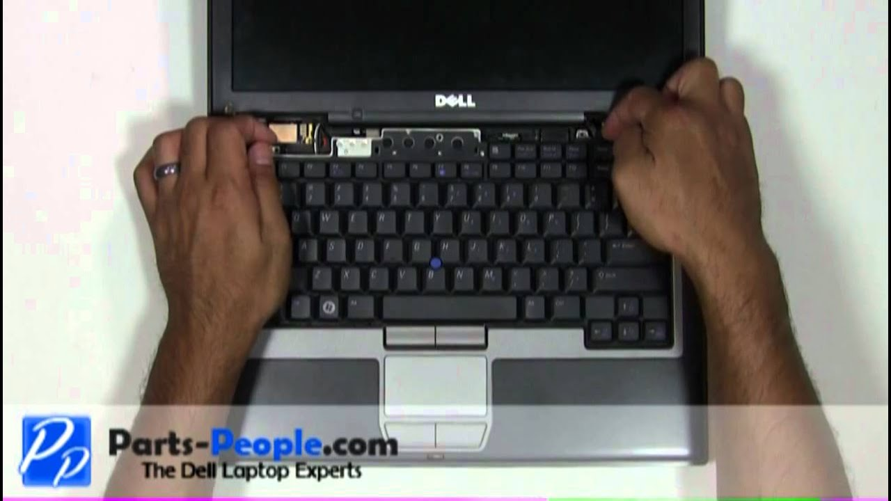 Dell Latitude D630 Keyboard Replacement How To Tutorial Youtube