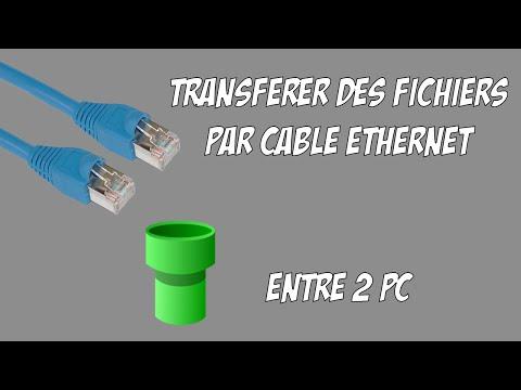 ربط جهازين كمبيوتر بكابل الانترنت ونقل الملفات بسرعة عالية