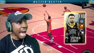 110 OVR GOLDEN TICKET CURRY SHOOTING FULL COURT 3! NBA Live Mobile 19 Season 3 Ep. 149