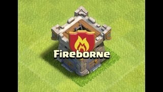 Fireborne War 8, m3 def replay TH10, Hogs (Clash of Clans