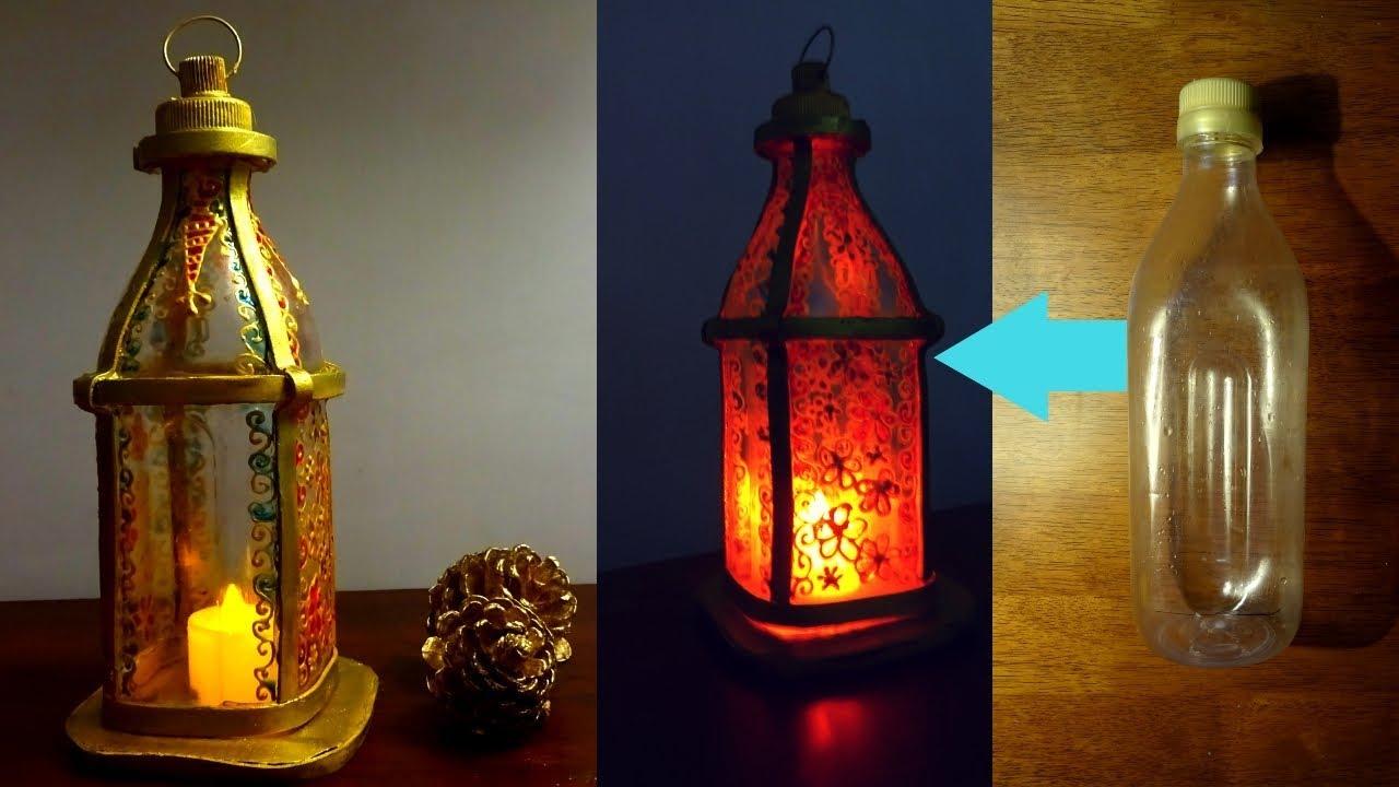 Diy Lantern Using Plastic Bottle Ramadan Diy Youtube