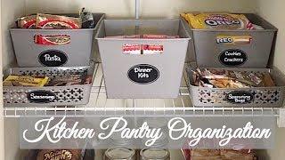 Updated Kitchen Pantry Organization | Dollar Tree