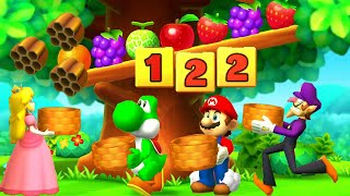 Super Mario Party The Top 100 MiniGames Peach Vs Mario Vs Yoshi Vs Waluigi (Master CPU)