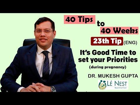 23rd week of Pregnancy | 40 Tips to 40 Weeks (Eng) | By Dr. Mukesh Gupta