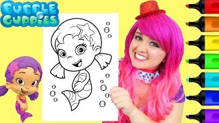 Coloring Oona Bubble Guppies Coloring Book Page Prismacolor Colored Paint Markers | KiMMi THE CLOWN