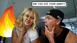 I CUT OFF MY HAIR!! *PRANK ON HUSBAND*