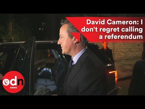 David Cameron: I don't regret calling a referendum