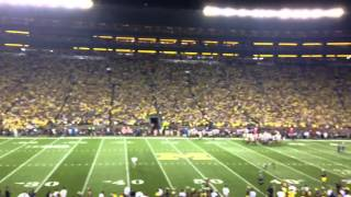 Announcement of over 115,000 at Michigan Stadium