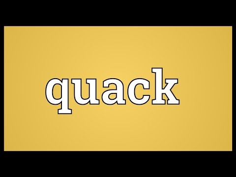 Quack Meaning