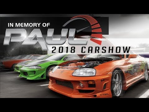 In memory of Paul Walker car event SOLD OUT!