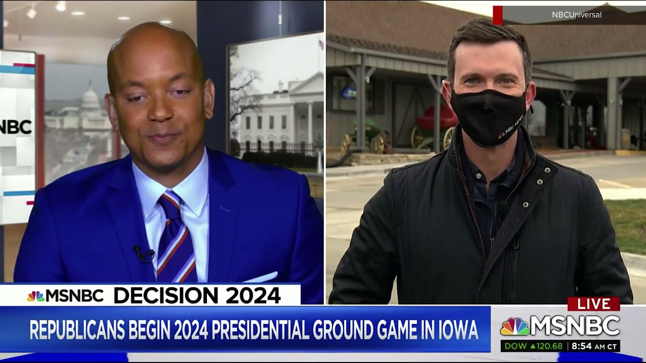 MSNBC shows 'Decision 2024' banner on screen March 26, 2021