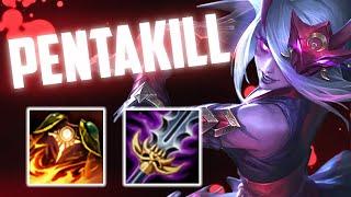 BLOODMOON KATARINA PENTAKILL - Fun 1v9 Katarina Build - Gameplay | Katlife