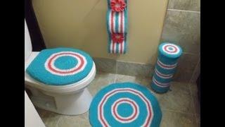 Crochet Bathroom set Part  1 of 4
