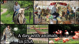 A day with animals | Day in my at USA | USA Columbus zoo in tamil | USA Tamil Vlog | Vlog in Tamil
