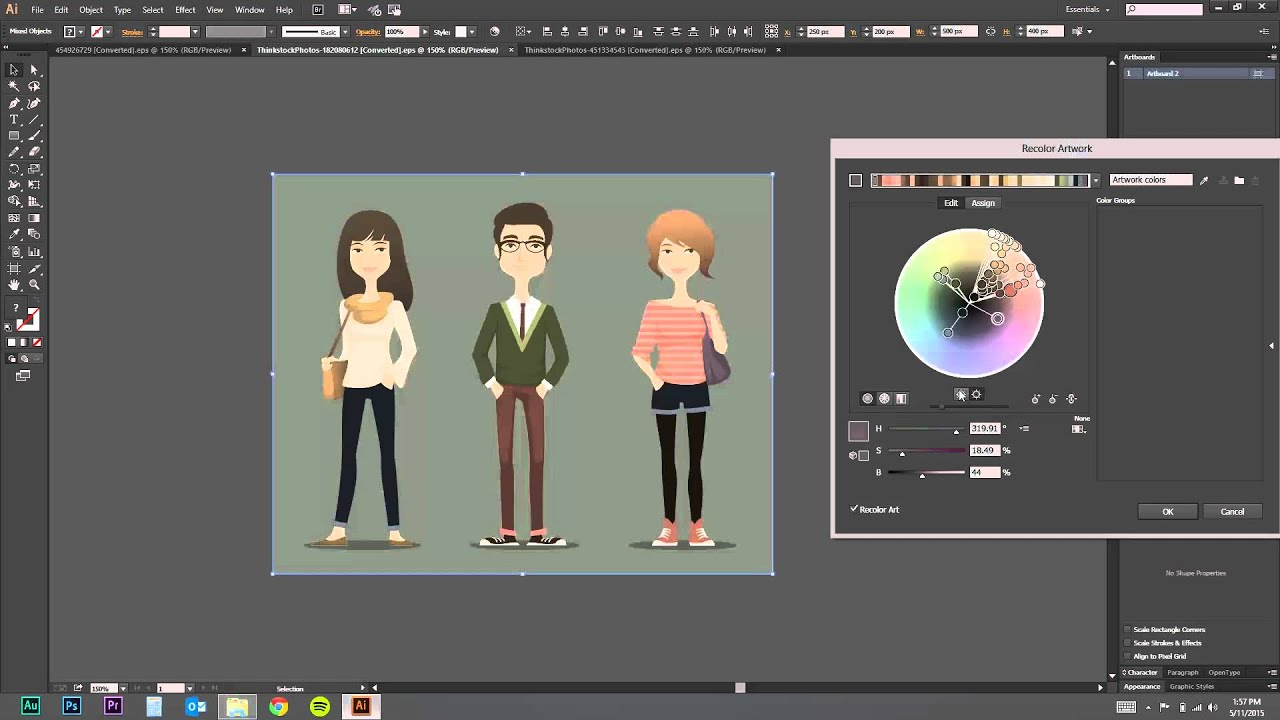 How to Quickly Recolor Your Vector Images - eLearning Brothers