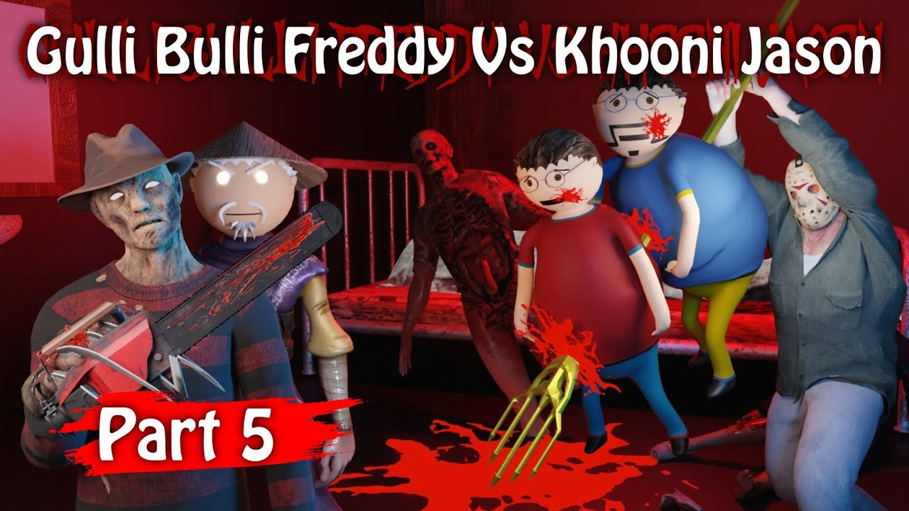Gulli Bulli Freddy Vs Khooni Jason Part 5 || Animated in Hindi || Scary Toons || MJH