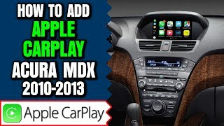 Acura MDX Apple CarPlay - How To Add Apple CarPlay Acura MDX 2010-2013 NavTool Video Interface DVD