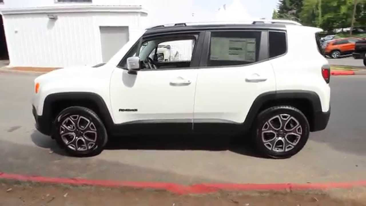 2017 Jeep Renegade Limited Alpine White Fpb61451 Redmond Seattle You